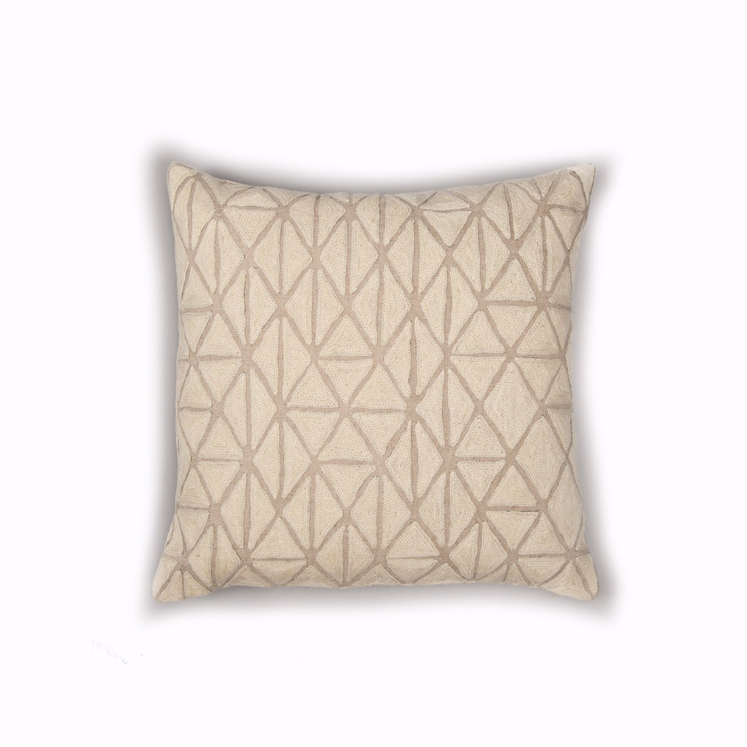 Berber Cushion - Ecru & Natural Linen