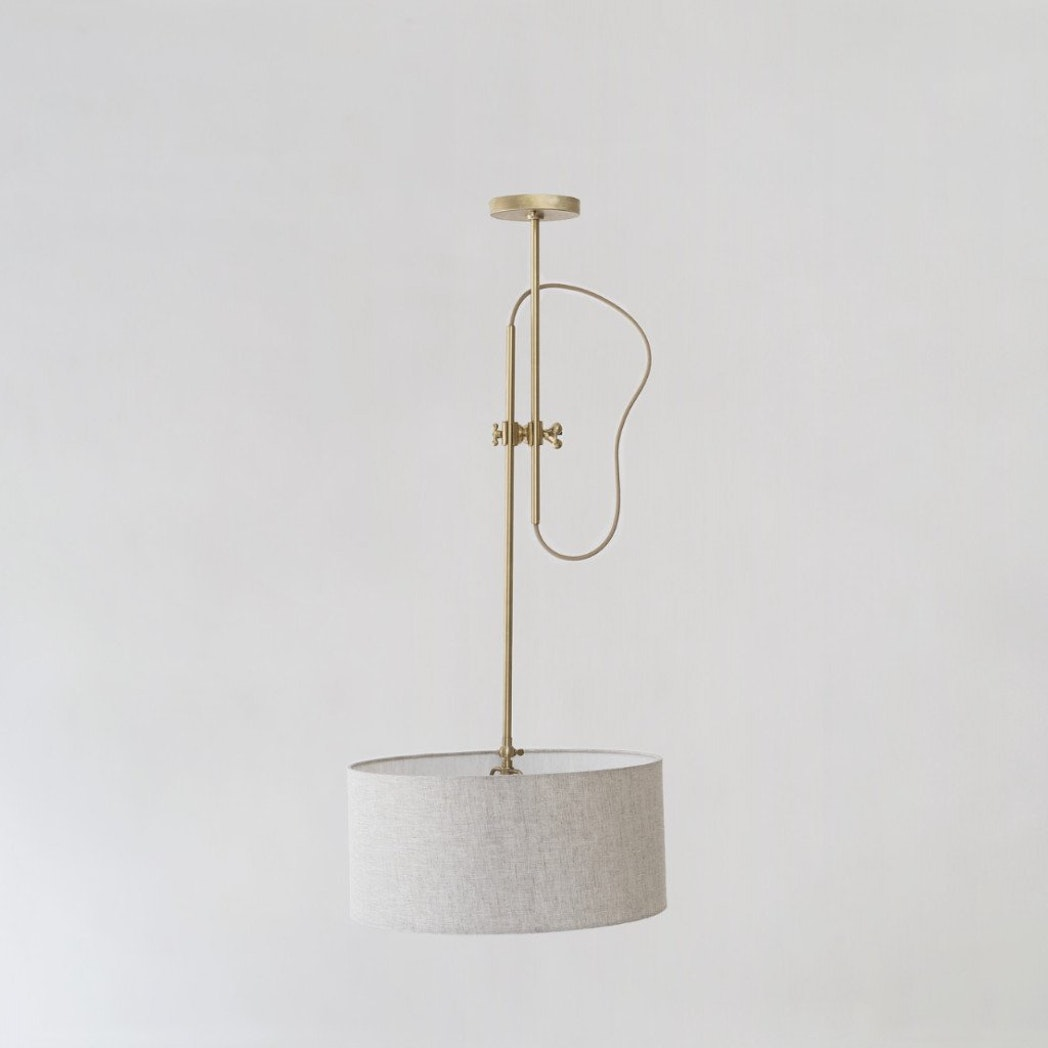 Workstead Brass Shaded Pendant