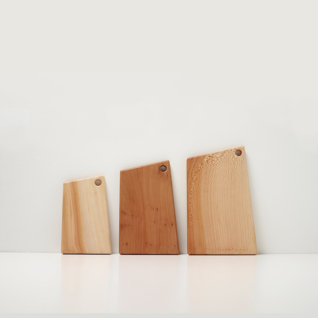 London Plane Geometric Cutting Board by Hampson Woods