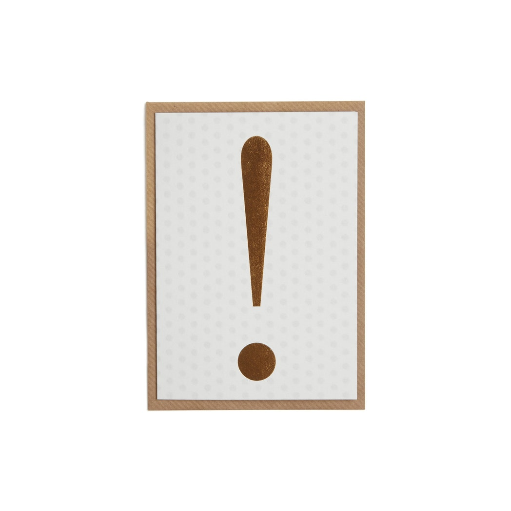 Exclamation Card - Gold