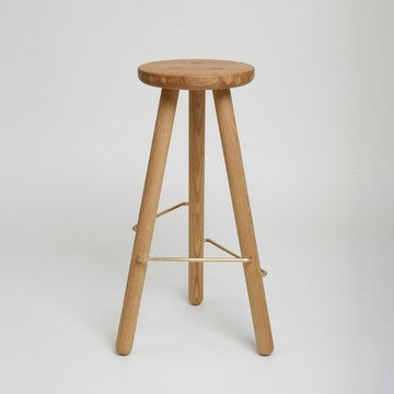 Bar Stool One, Oak
