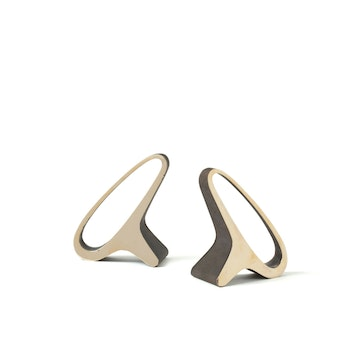 Earlobe Brass Bookends (pair)