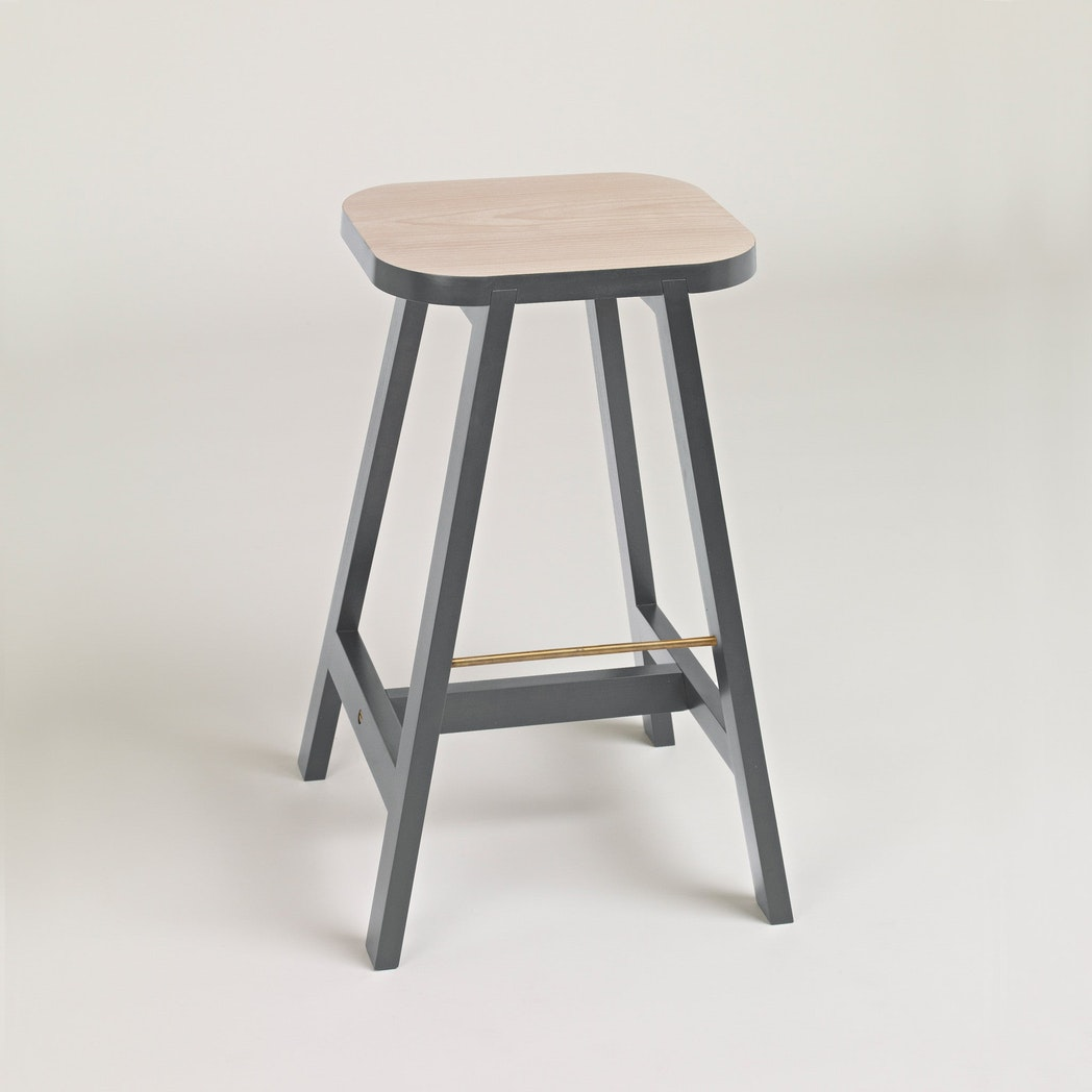 Bar Stool Three Beech, Chamberlayne Grey