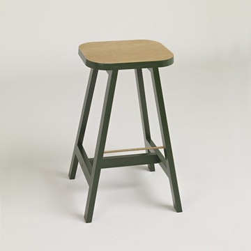 Bar Stool Three Oak, Oxford Green