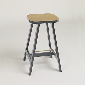 Bar Stool Three Oak, Chamberlayne Grey