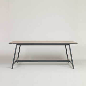 Dining Table Three Beech, Chamberlayne Grey