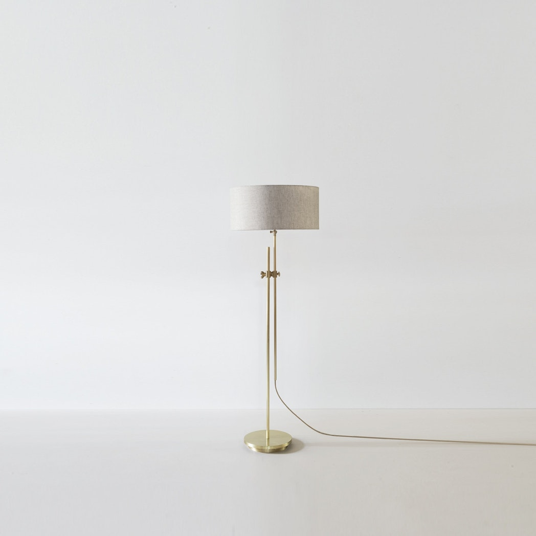 Workstead Brass Shaded Floor Lamp