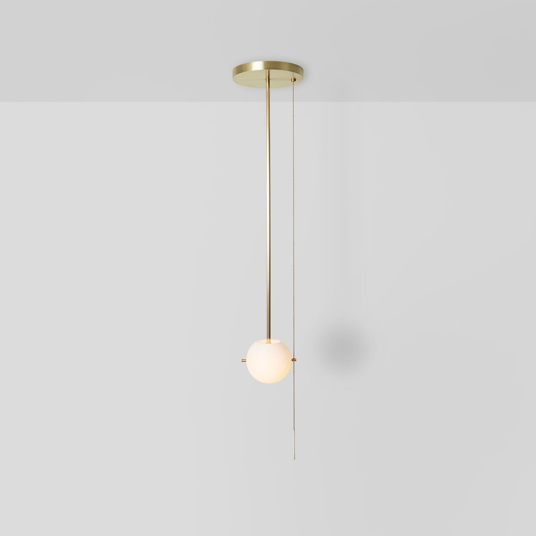 Workstead Signal Pendant, Hewn Brass