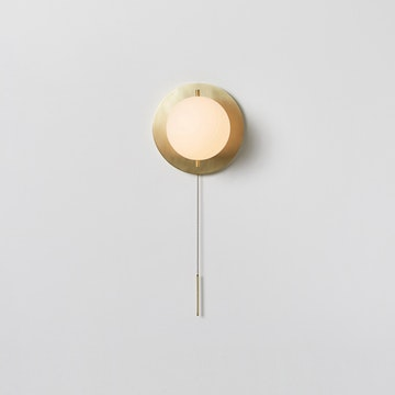Workstead Signal Sconce, Hewn Brass