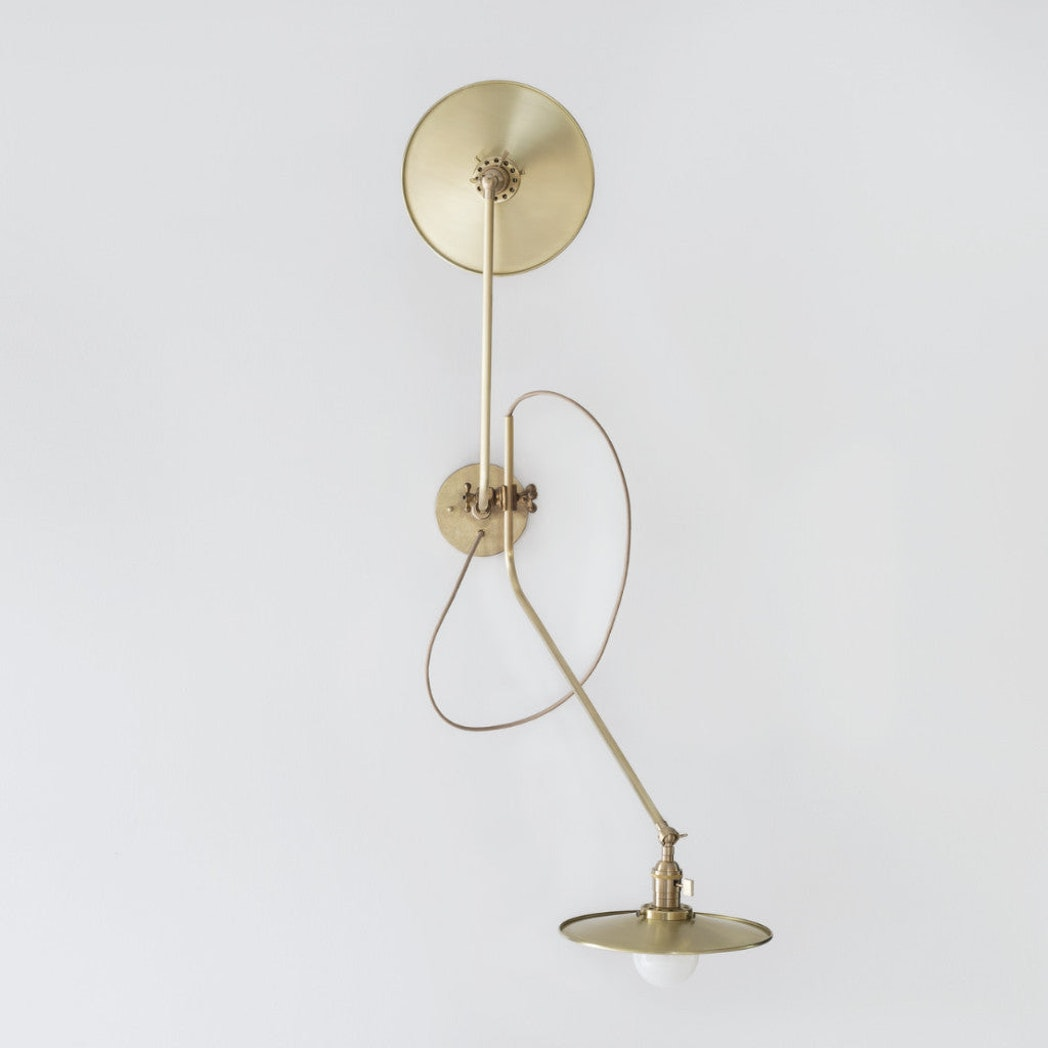 Workstead Brass Bent Wall Lamp